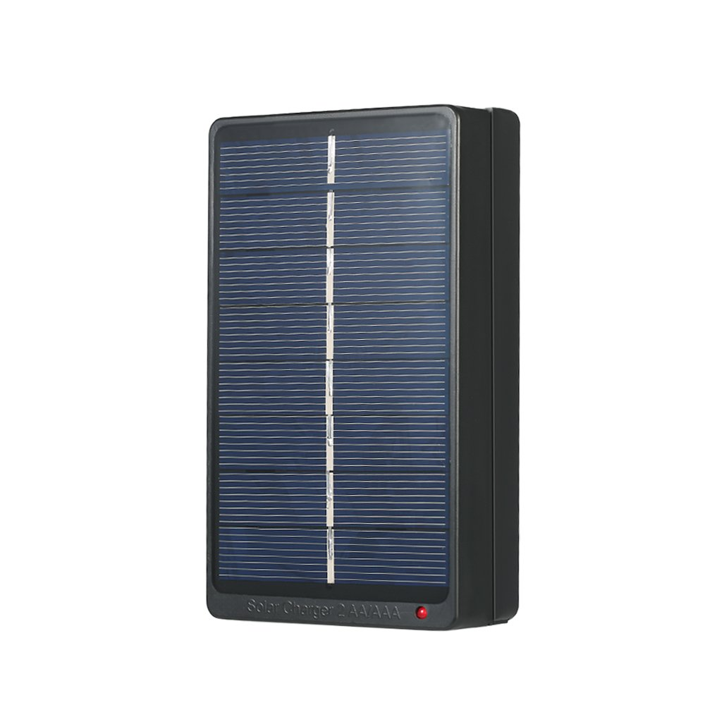 Decdeal 2*AA/AAA Rechargeable Batteries Charger Solar Powered Charger 1W 4V Solar Panel for Battery Charging