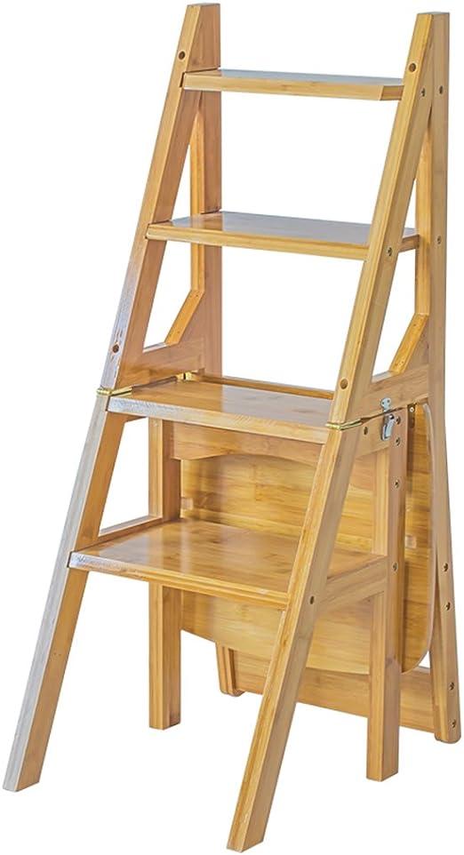 Taburetes escalera Silla de escalera plegable multifuncional para ...
