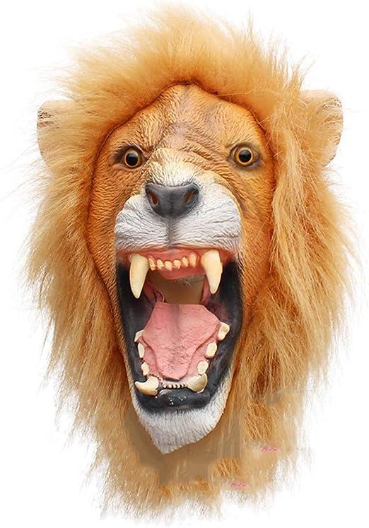 KTops Máscara de león Novedad Horror de Halloween Máscara de ...