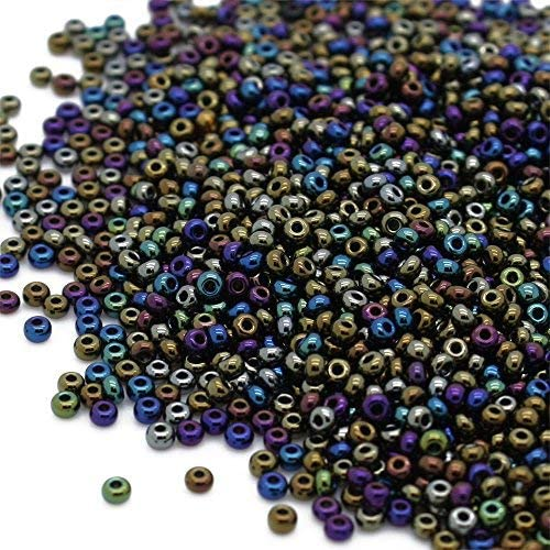 . Preciosa Beads Unlimited Metallic Czech Silver Glass Rocaille//Seed 8//0-Pack..
