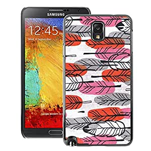 A-type Arte & diseño plástico duro Fundas Cover Cubre Hard Case Cover para Samsung Note 3 N9000 (Easter Red Pink Hand Drawn Art)