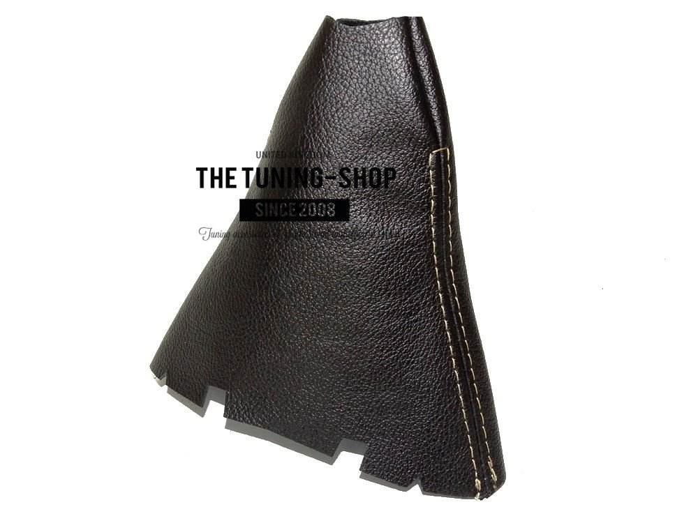 Cuffia leva cambio pelle italiana nero cuciture beige The Tuning-Shop Ltd