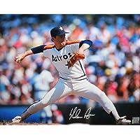 $115 » Nolan Ryan Autographed Houston Astros 16X20 HM Pitching Horz Photo- AI Verified/Ryan Holo Auth White