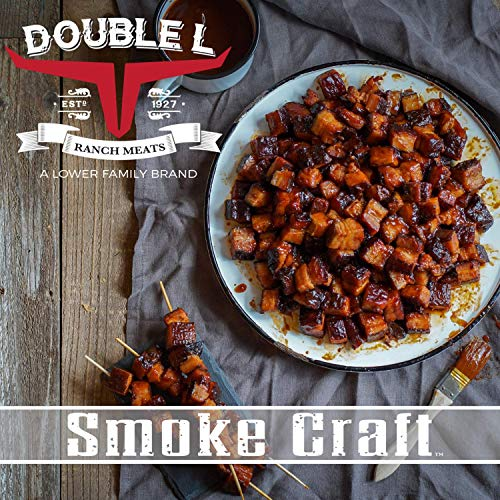 Pork Belly Burnt Ends by Double L Ranch Meats | Hickory Smoked & Ready to Serve | 10 Lbs.