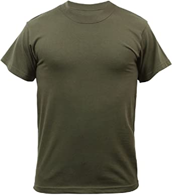 Amazon.com  Olive Drab Green Military Tactical Short Sleeve 100 ... 0ab4d347b84