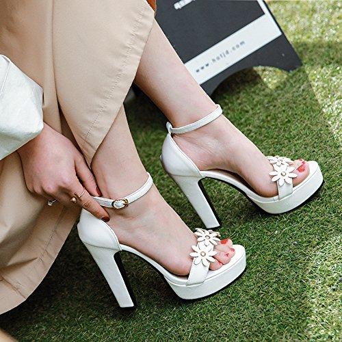 tamaño y sandalias white impermeable de y de terraza como La banda verano femenino ultra florales q0xaUxZp