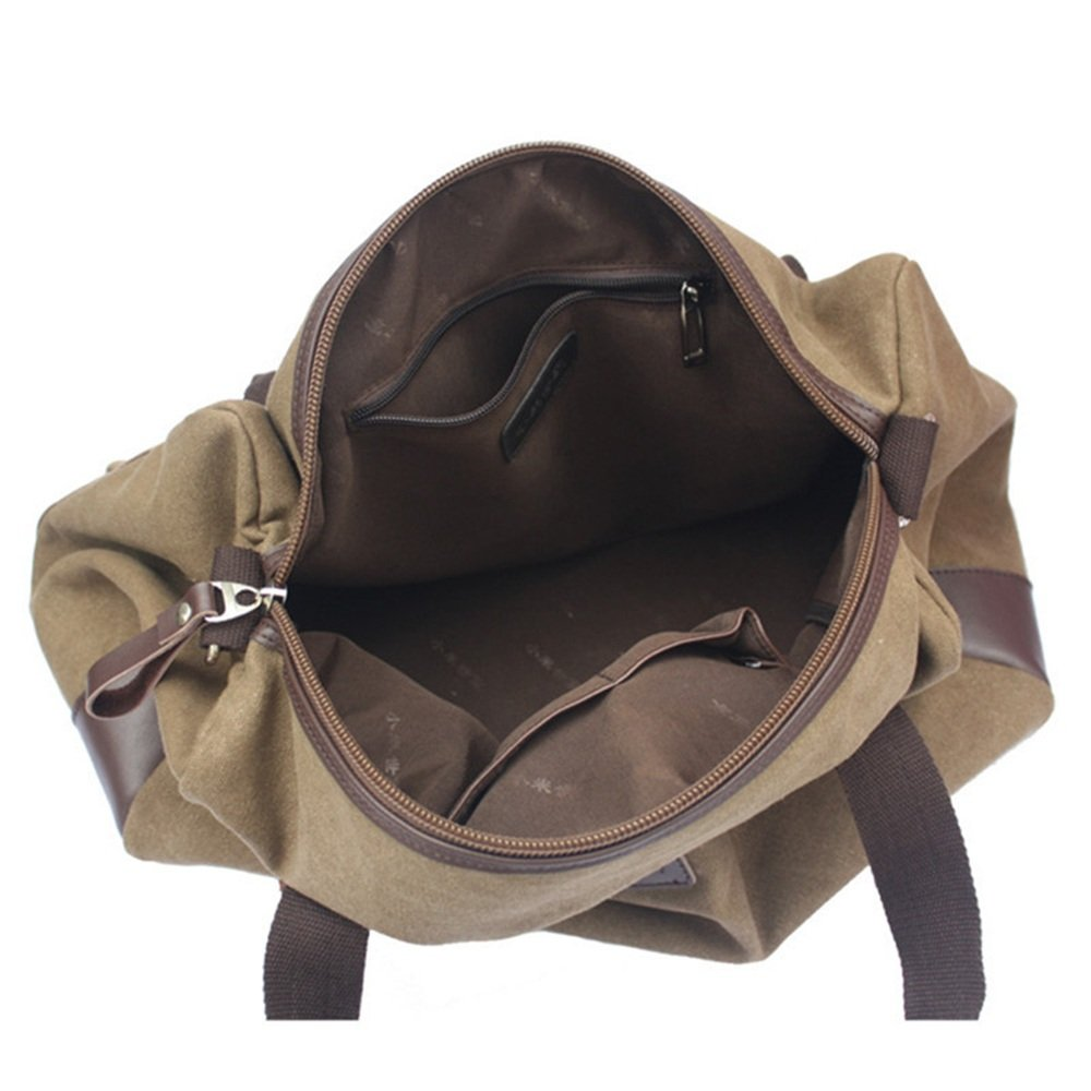 Handbag Travel Duffel Canvas Canvas Bag Short Trip Bag Luggage Gym Sports Luggage Bag Male Single Shoulder Large Capacity Business Trip Travelling Bag