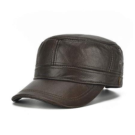 W.Z.H.H.H Sombrero de Moda Gorro de Cuero de Invierno para Hombre ...
