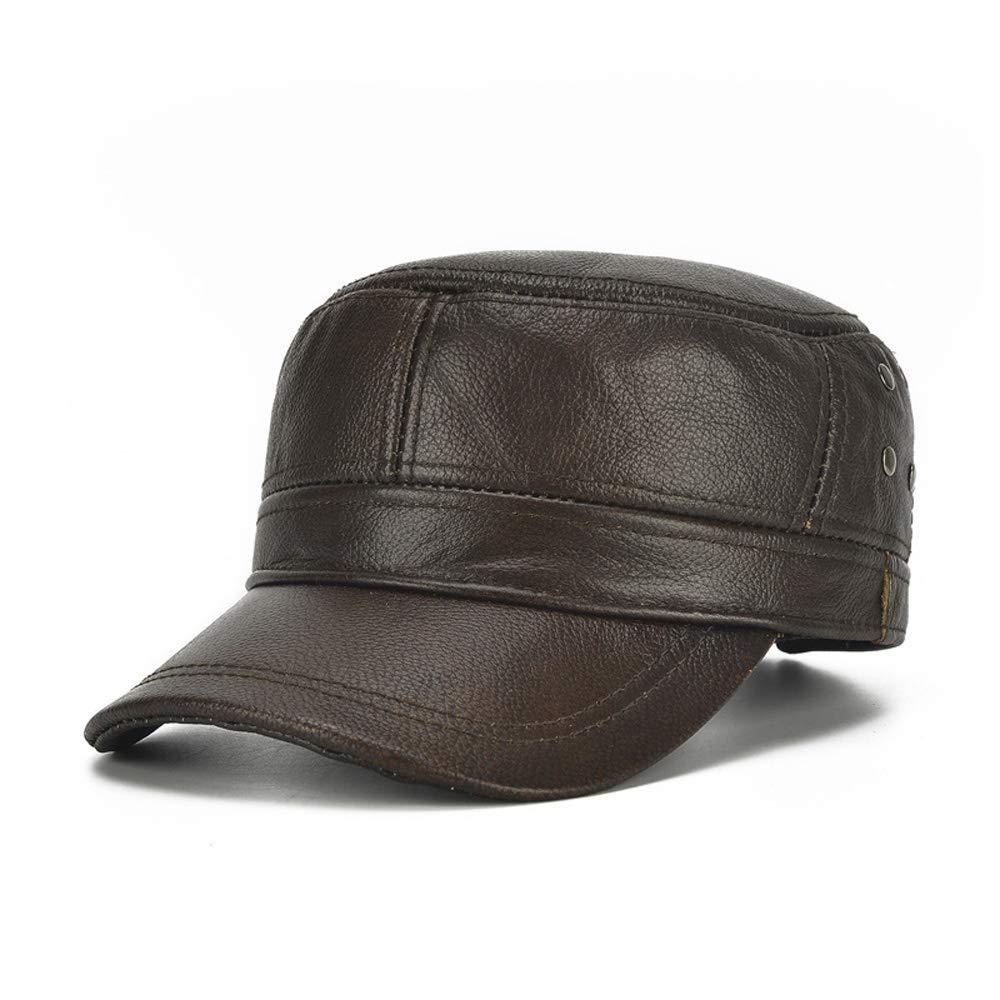 5abe4f0ea71b9d Fashion Hats, Caps,Elegant Hats, Natural Caps Hat Winter Men Leather Hat  Men's Plus Cotton Warm Baseball Cap Adjustable Winter Leather Cap Gentleman  Hat