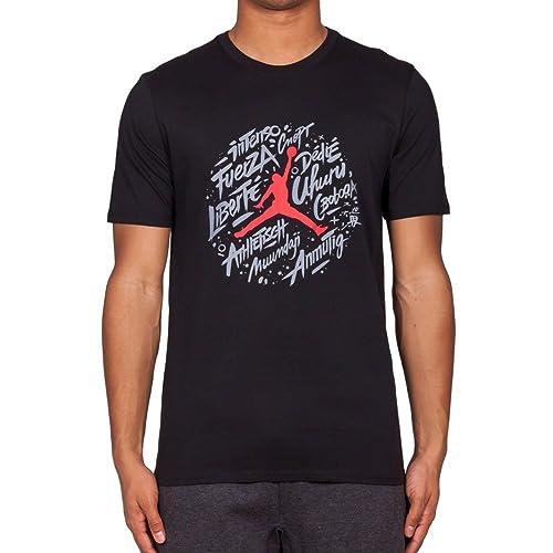 d3d7bfa900bae8 Amazon.com  Jordan Retro 9 World Wide T-Shirt  Sports   Outdoors