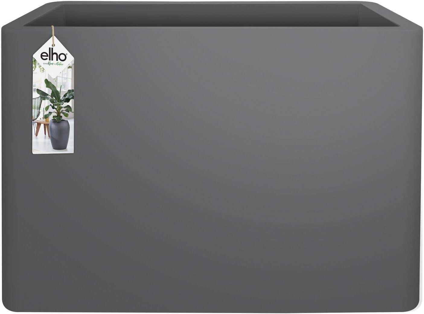 Elho Pure Soft Brick Divider Macetero con Ruedas, Anthracite, 78x29x58 cm