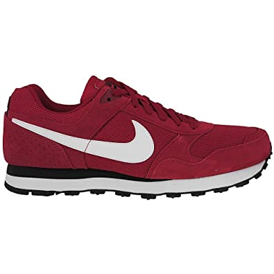39f8bc6c19 Nike - MD Runner Suede - Color  Black-Red-White - Size  8.5  Amazon.co.uk   Shoes   Bags