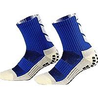 Anti Slip Voetbalsokken,Unisex atletische sokken Rubber Grip Voetbalsokken voor Voetbal Basketbal Baseball Yoga Runing…