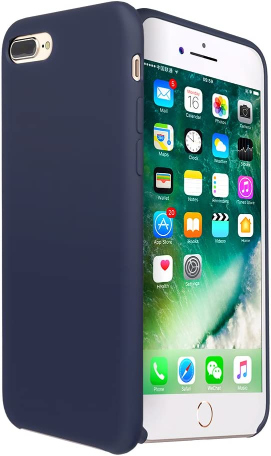iPhone 8 Plus case, Moleboxes iPhone 7 Plus case Silicone Slim Fit Rugged Case Heavy Duty Protection Shockproof Soft Touch Drop Protection Anti-Scratch (Blue)