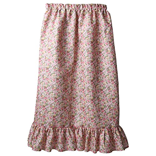 Floral Ruffle Skirt (Women's Calico Pioneer Ruffle Skirt, SM, Pink)