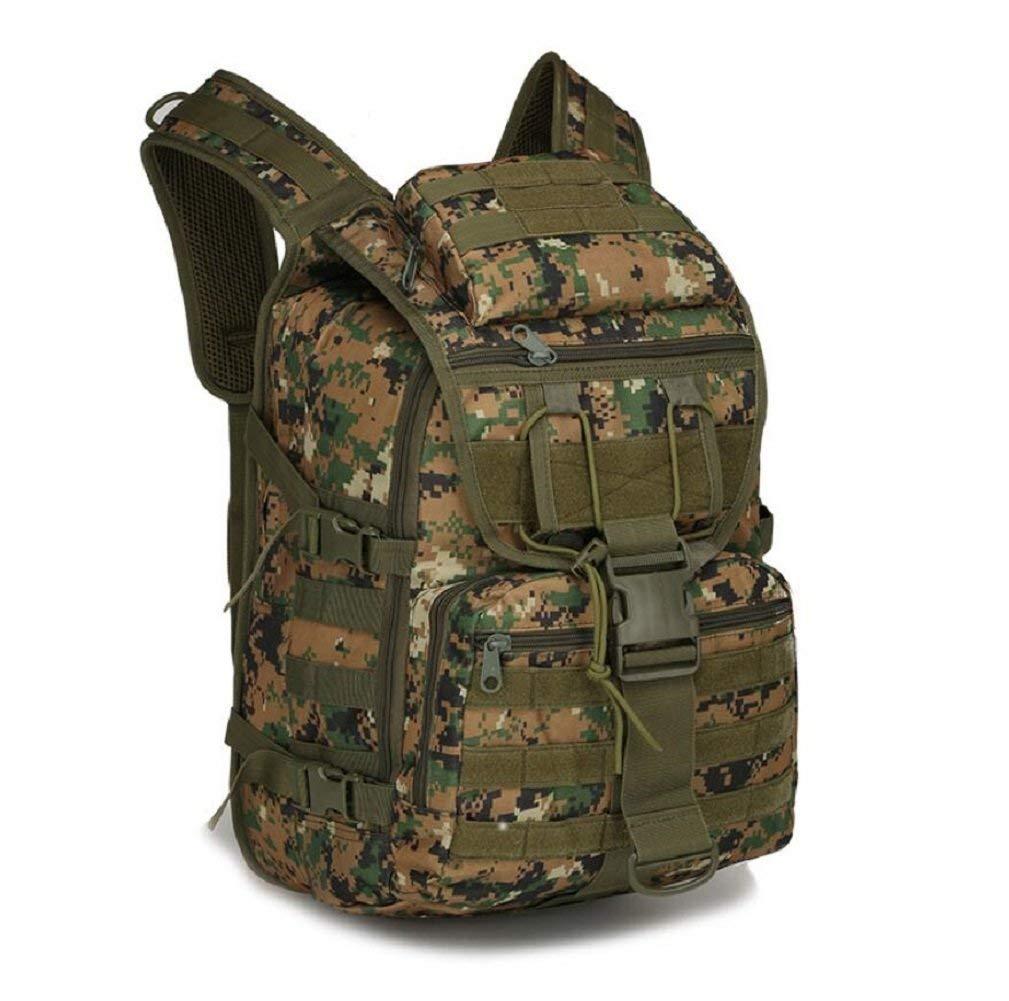 BEI Outdoor Rucksack 36-55L Kapazität Outdoor Camouflage Doppel Schulter Tactical Assault Paket, Oxford Tuch Wasserdichte Outdoor Klettern Wandern Rucksack, Strap Einstellbare Rucksack