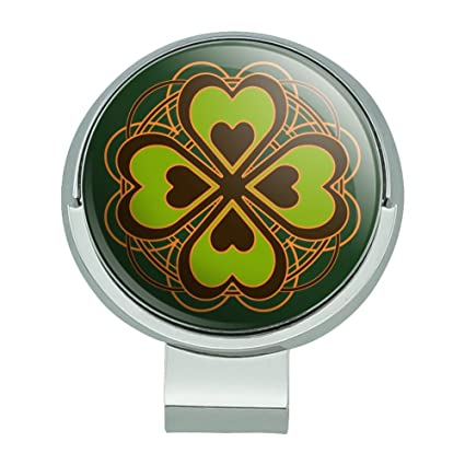 Image Unavailable. Image not available for. Color  Four Leaf Clover Lucky  Golf Hat Clip With Magnetic Ball Marker dc22161fb6ec