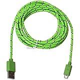 Tongshi 3M / 10FT cargador micro USB cable de sincronización Cable de datos para el teléfono celular (Verde claro)