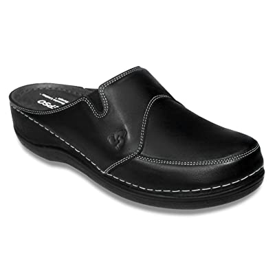 STEPSO Clogs Women's Leather Handmade Lightweight Professional Comfort Nursing | Mules & Clogs