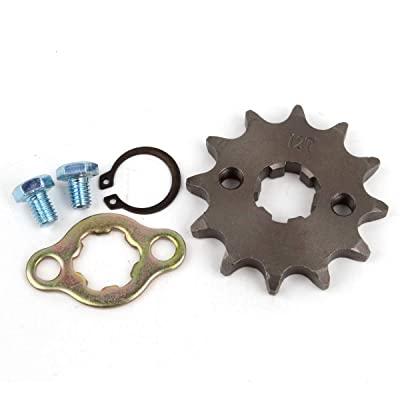 Wingsmoto Sprocket Front 428-12T 17mm Motorcycle ATV Dirtbike: Automotive