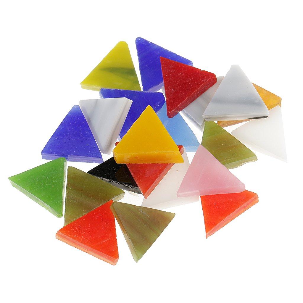 IPOTCH Glitzer Glasmosaiksteine Dekoration Klarglas Mosaik Fliesen F/ür DIY Handwerk Dreieck//Platz//Rhombus 200 St/ücke 10-30mm