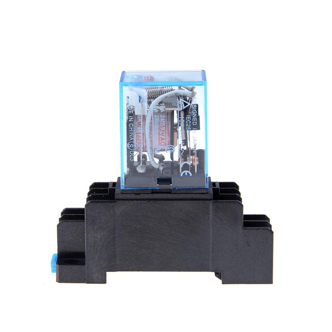 Relais de puissance de bobine à CA 220V LY2NJ DPDT 8 broches PTF08A JQX-13F avec la base de la douille micro commutateur de module électromagnétique électronique Gwendoll