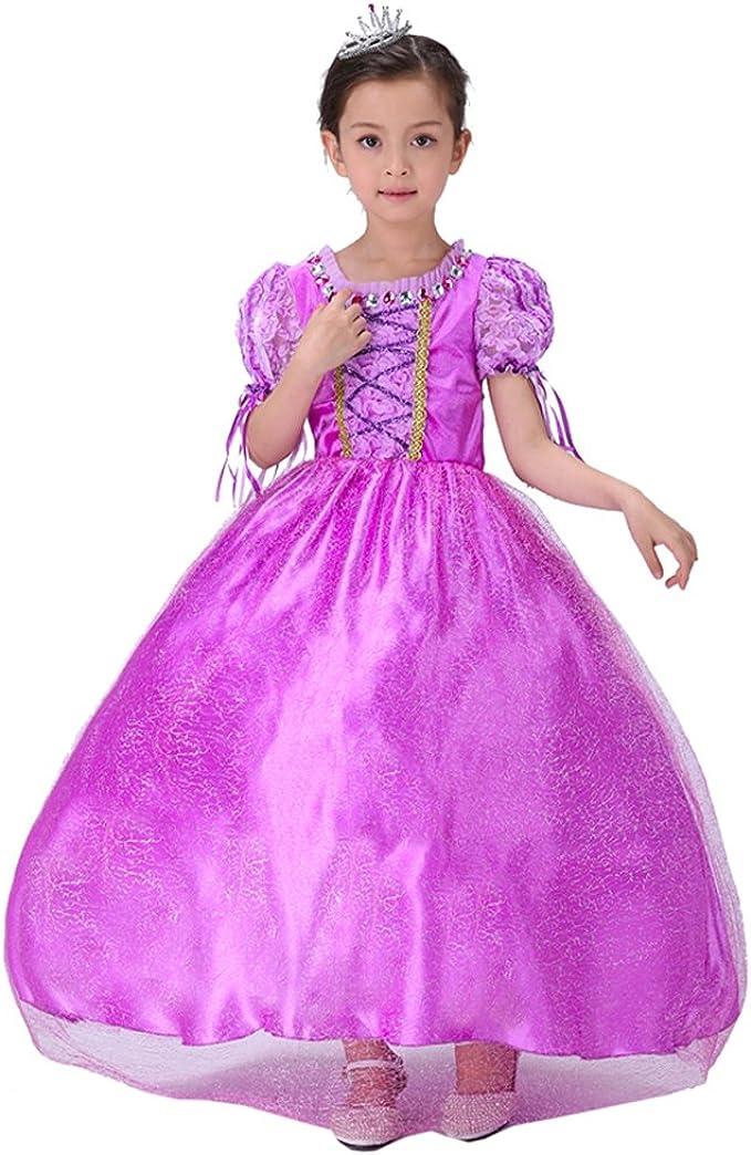 Disfraz infantil de princesa Rapunzel morado 41: Amazon.es: Ropa ...