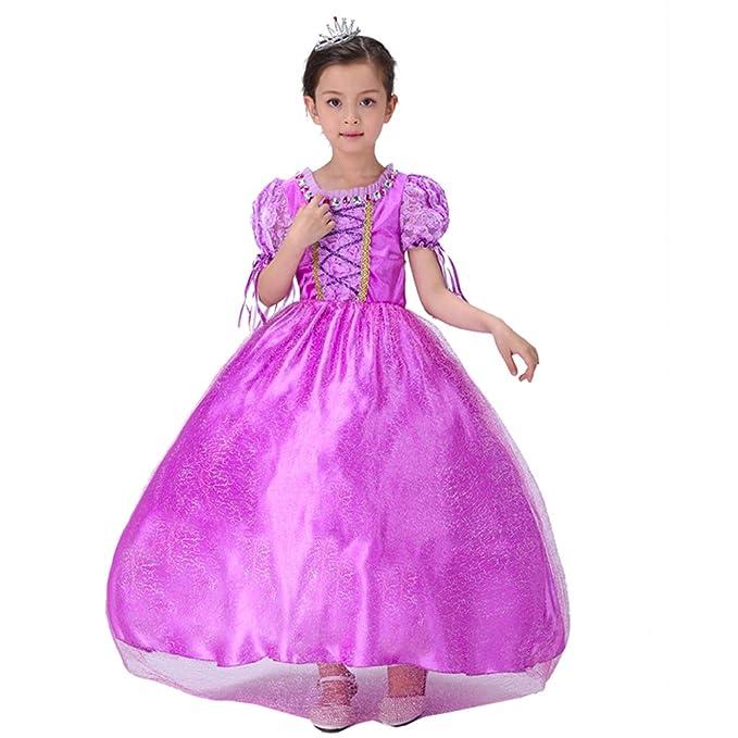 Disfraz infantil de princesa Rapunzel morado 41