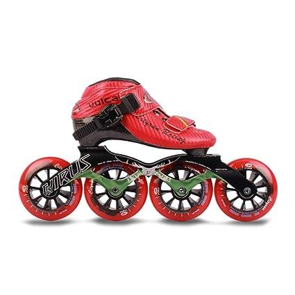 Patines línea Ruedas Profesional Polea Velocidad Patinaje Zapatos Principiante para para niños Adulto Hombres Mujer Patines