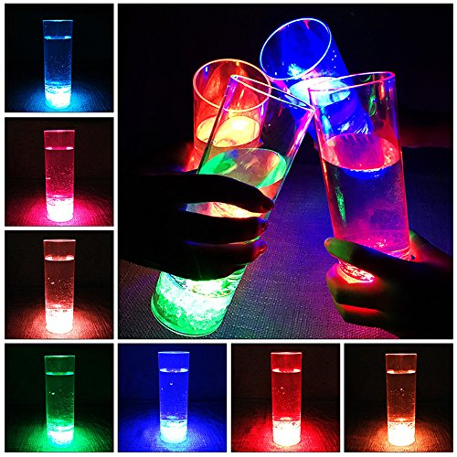 LED Colorful Flashing Bar Cup Luminous Beer Glasses High Brightness Light Cup Charged -