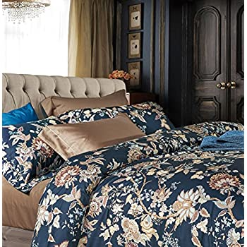 Amazon Com Eastern Floral Chinoiserie Blossom Print Duvet
