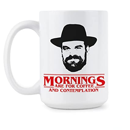 Amazoncom Chief Hopper Quote Mug Mornings Are For Coffee And