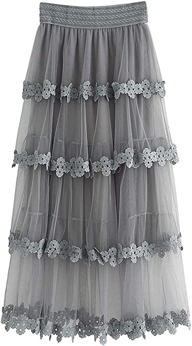 Sylar Faldas Largas Mujer Fiesta Elegante Faldas Flamencas Mujer ...