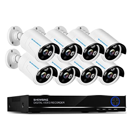 SHEMSINZ Sistema de cámara de CCTV de seguridad de vigilancia 8CH 1080N AHD 5-en