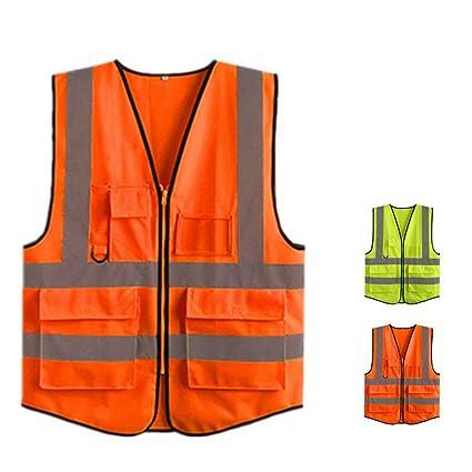 Chaleco reflectante de seguridad de alta visibilid Chaqueta de seguridad reflectante, chaleco de seguridad de