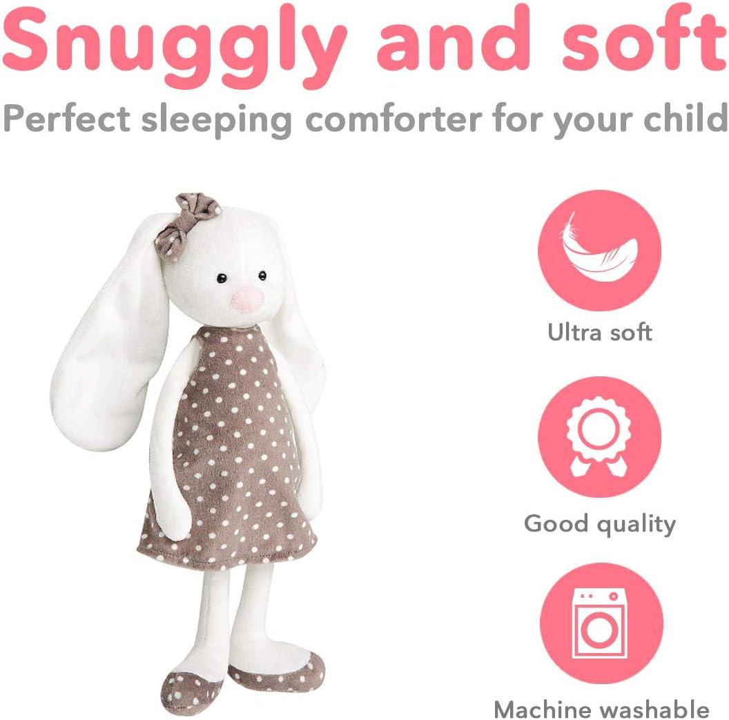 Grey w// Pink Ears Hugmo Kids Plush Snuggle Bunny