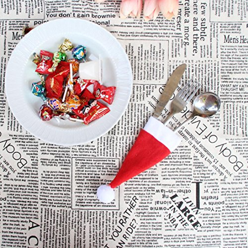 Clearance Sale!DEESEE(TM)Christmas Hat Knife and Fork Tool Christmas Decor by DEESEE(TM)_Home (Image #2)