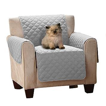 FREESOO Funda para Sofá 1 Plazas Funda Cubre Sofá Acolchado Impermeable Sillones Protector de Sofás para Perros Gatos 53 * 180cm