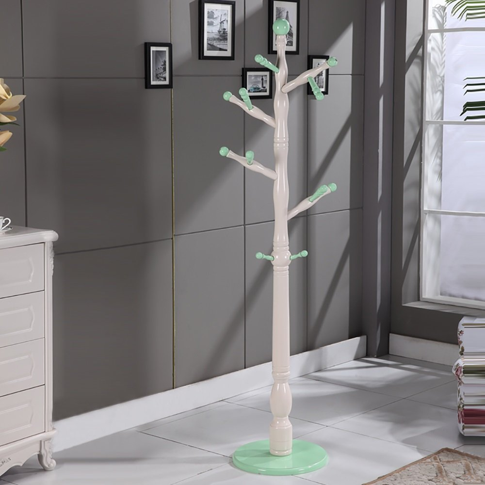 JI BIN SHOP® ヨーロッパスタイルソリッドウッドコートラックフロアリングハンガー寝室居間立てハンガーレトロ (色 : 11#) B07MR628QF 11#