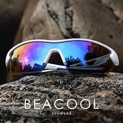 Mafeedss Sport Sunglasses for Men and Women Cycling Glasses Running Driving Anti-slip Frame Unbreakable Lenses