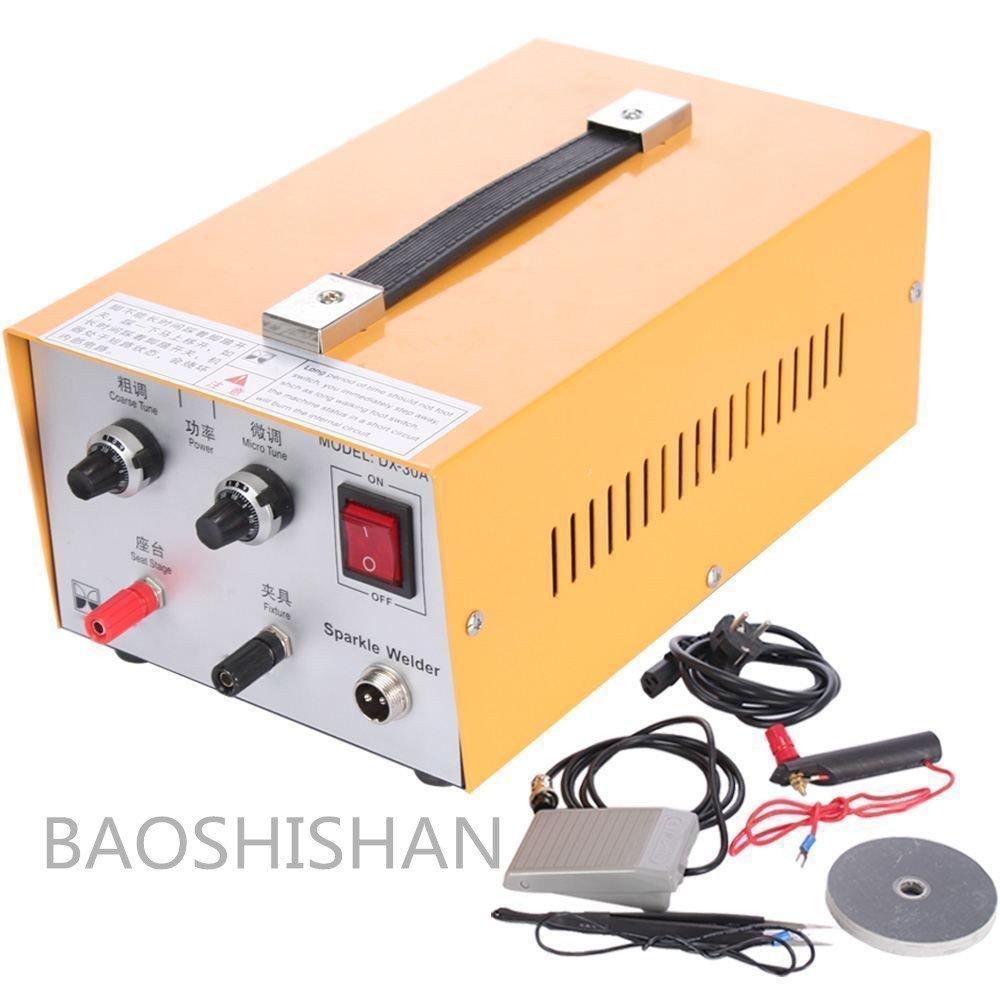 BAOSHISHAN 110V/220V 30A 200Wパルススポット溶接機 ハンドヘルドパルス ジュエリーツール 金銀プラチナ溶接マシン リングウェルダー (110V) B07BMP1GS3 110V