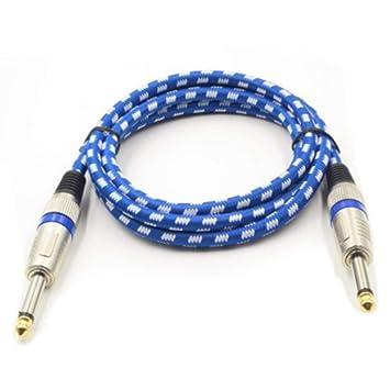 Cable de instrumentos musicales para guitarra eléctrica de 3 metros Cable blindado de bajo ruido: Amazon.es: Instrumentos musicales