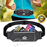 Running Belt Fanny Pack for Women Men Waist Bag Sport Accessories Workout Comfortable Adjustable Water Resistant Pouch Jogging Hiking Cycling Fitness Travel for iPhone X 6 7 8 Plus Samsung Cell Phone