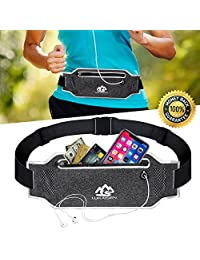 Running Belt Waist Bag Fanny Pack for Women Men Sport Accessories Workout Comfortable Adjustable Water Resistant Pouch Jogging Hiking Cycling Fitness Travel for iPhone X Cell Phone Sumsang …