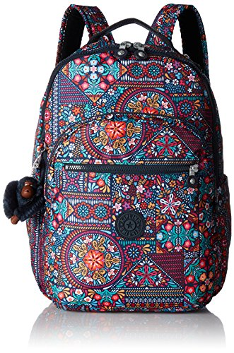 Seoul L Printed Laptop Backpack Backpack, DZDRLNGMLT, One Size by Kipling