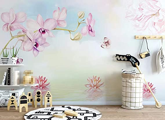 Mural Wallpaper 3d Phalaenopsis Wall Print Murals Paper Decal Indoor Summer Home