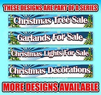 Advertising Flag, New Poinsettias for Sale Extra Large 13 oz Heavy Duty Vinyl Banner Sign with Metal Grommets Store Many Sizes Available