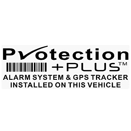 5 x Negro Protección plus-alarm y GPS Dispositivo de seguimiento de seguridad ventana pegatinas