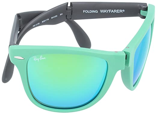f8f65b9679 Ray-Ban Folding Wayfarer Sunglasses RB4105 602119-5420 - Matte Green Frame