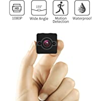 Mini Spy Camera Hidden Cam, Waterproof 1080P Full HD Cameras with 155° Wide-Angle Lens, Nanny/Housekeeper Cam with Night Vision & Motion Detection, Sports Action Cam with Mounting Accessories Kit
